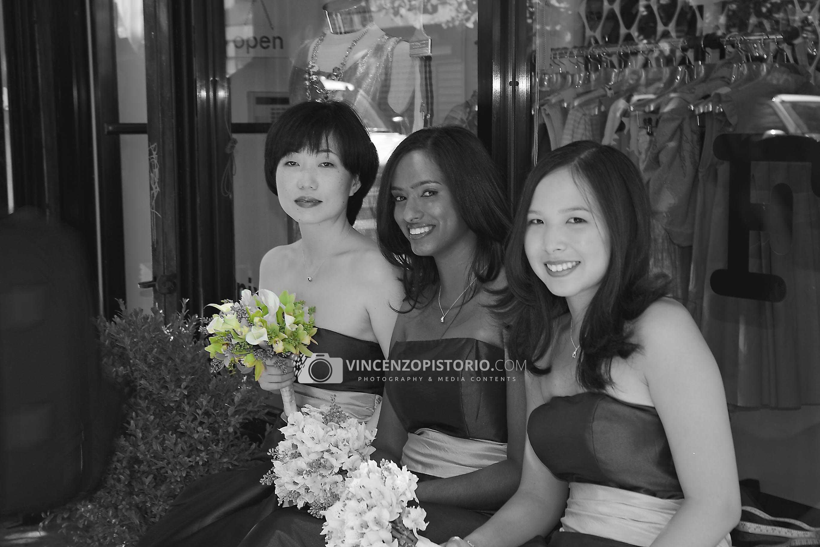Bridemaids at East Village – BW