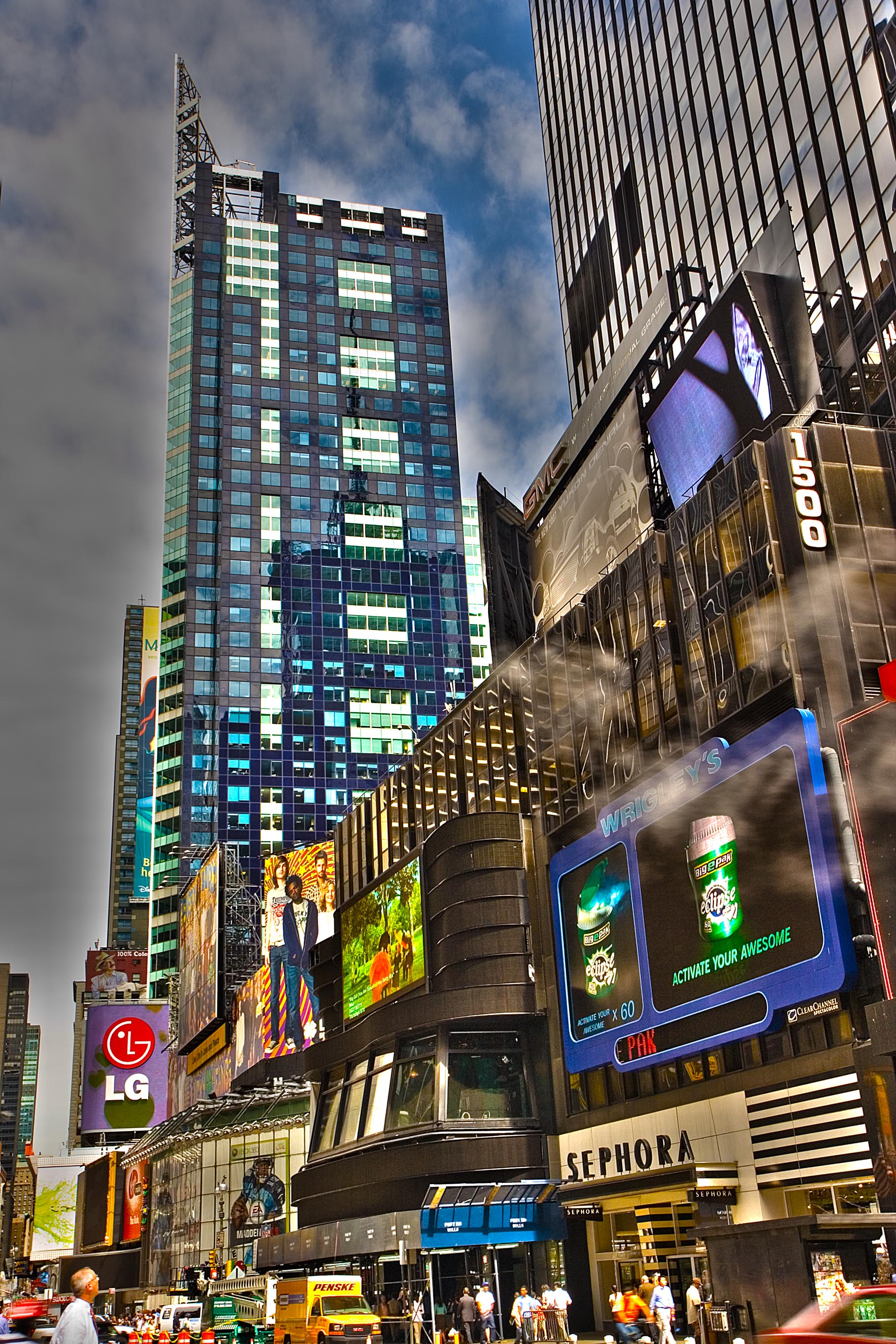 Buildings in Times Square