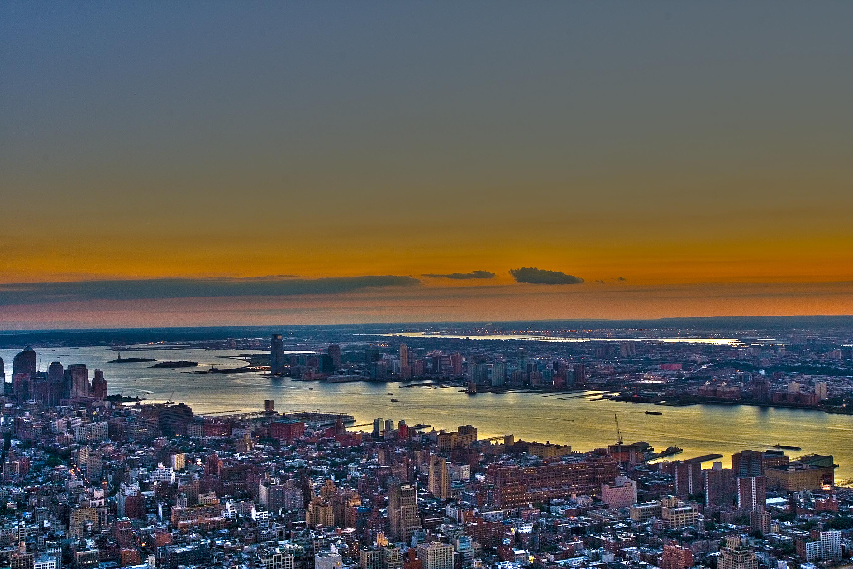 New Jersey and Hudson River on sunset – HDR