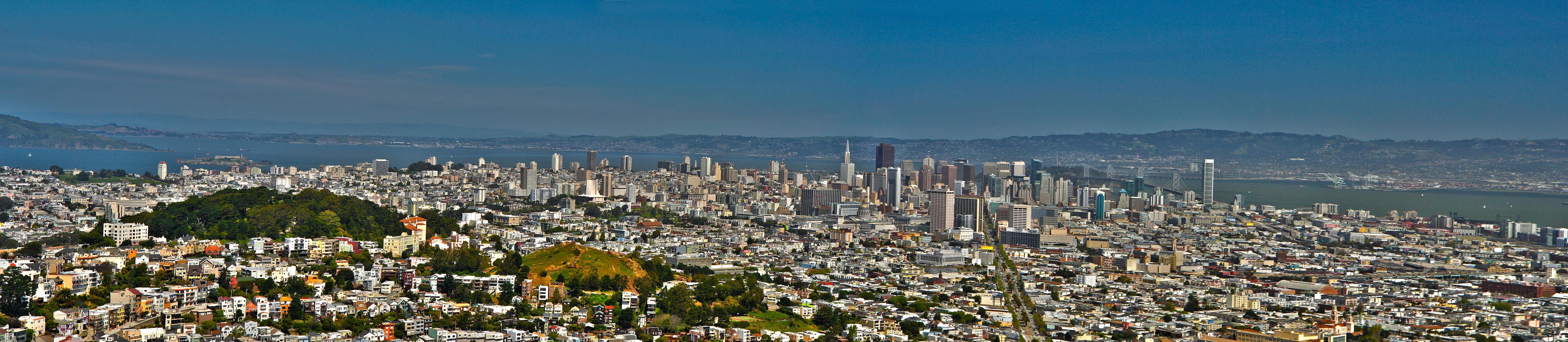 Panoramic view of Downtown SF and Market street – HDR