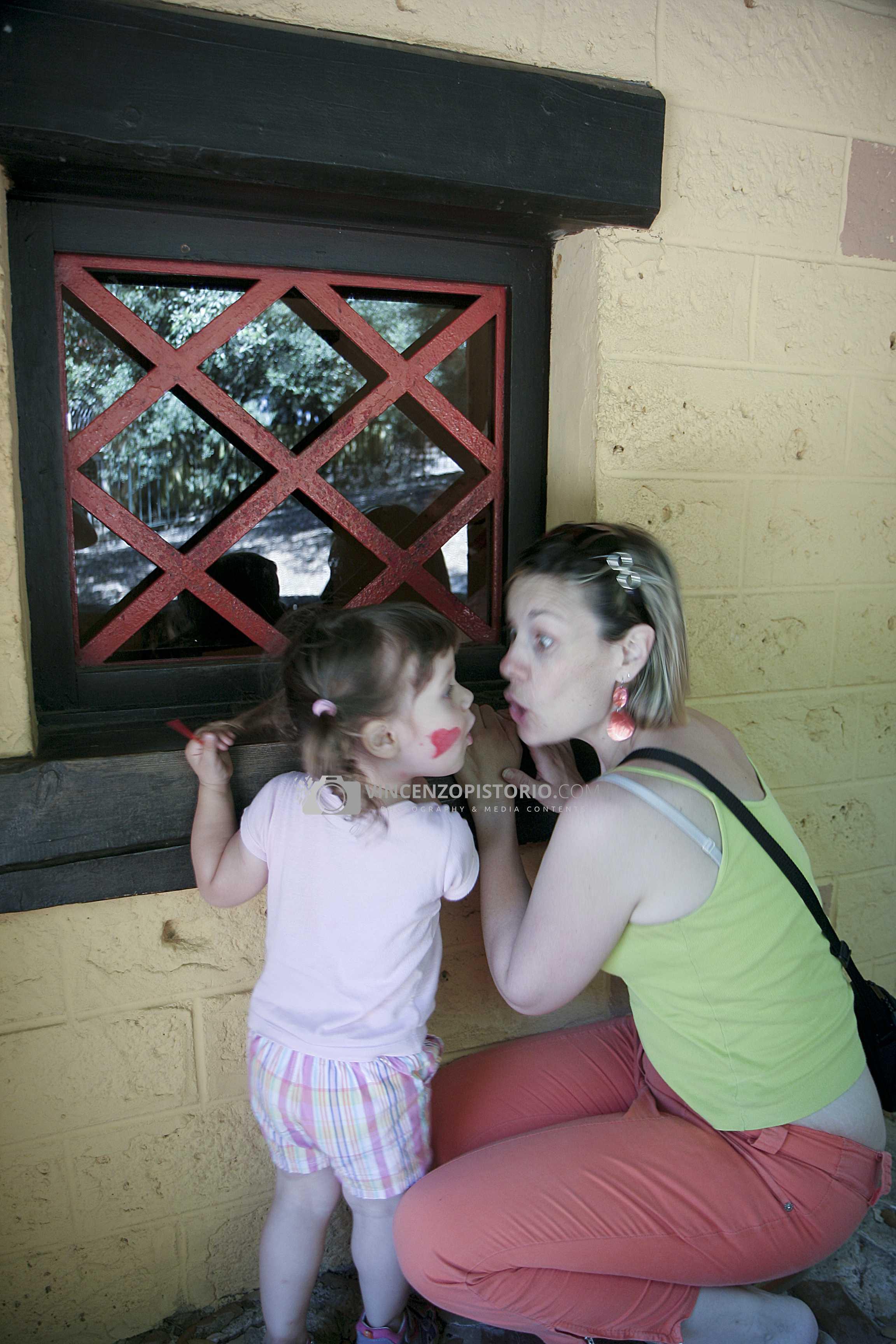 Silvia and Elisa at Pinocchio area