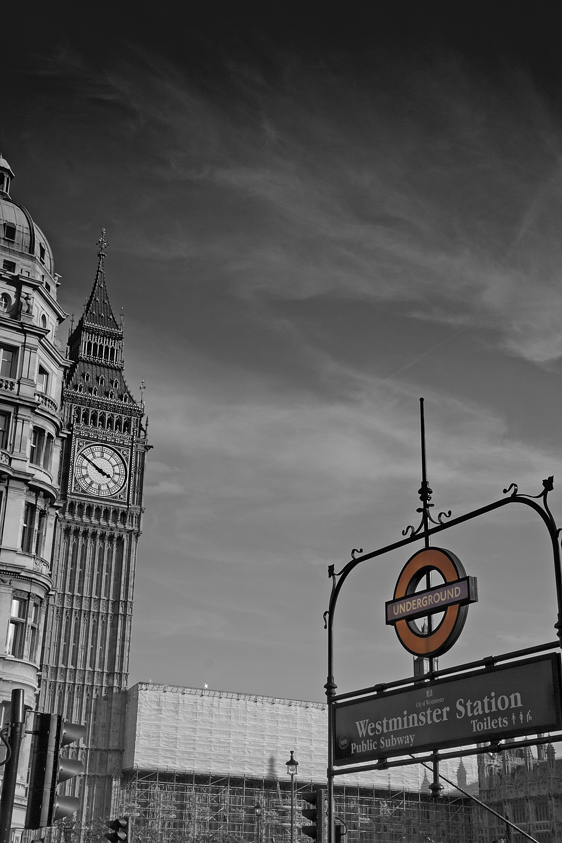 Westminster Underground station and the Big Ben