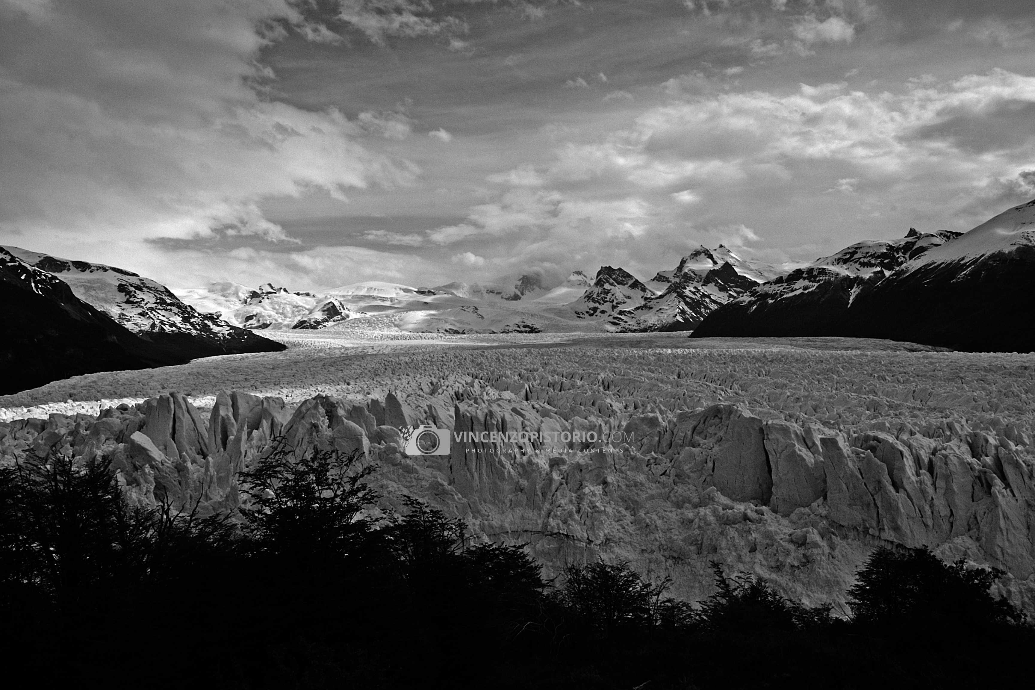 Perito Moreno Glacier- BW