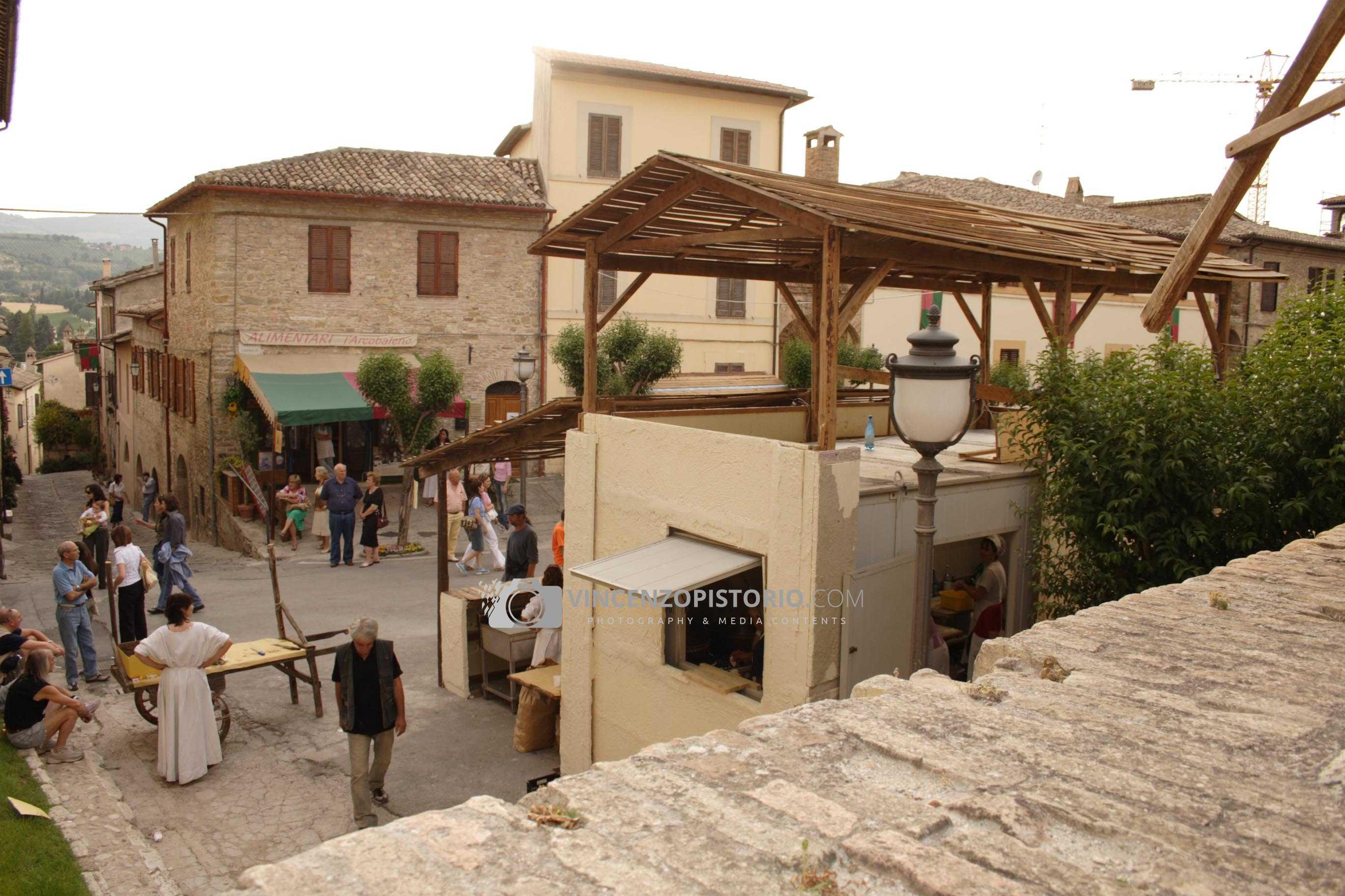 Food stands at Bevagna