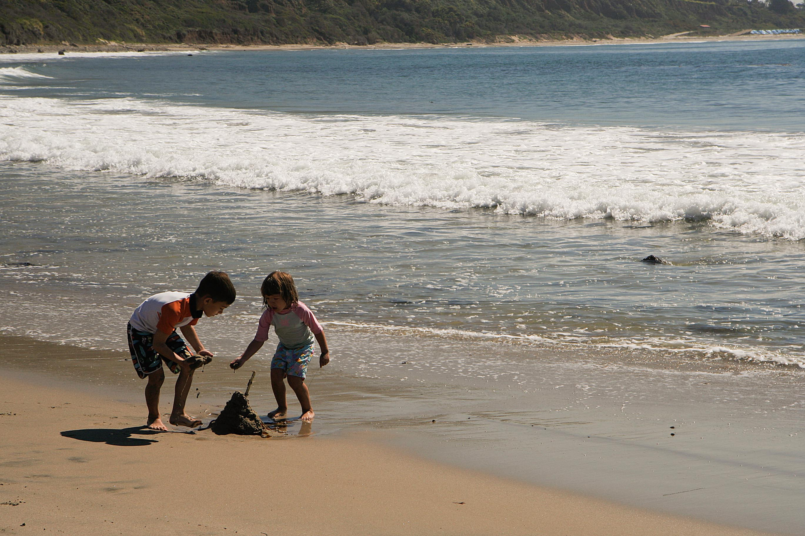 Children playing at Leo Carrillo State beach – 2