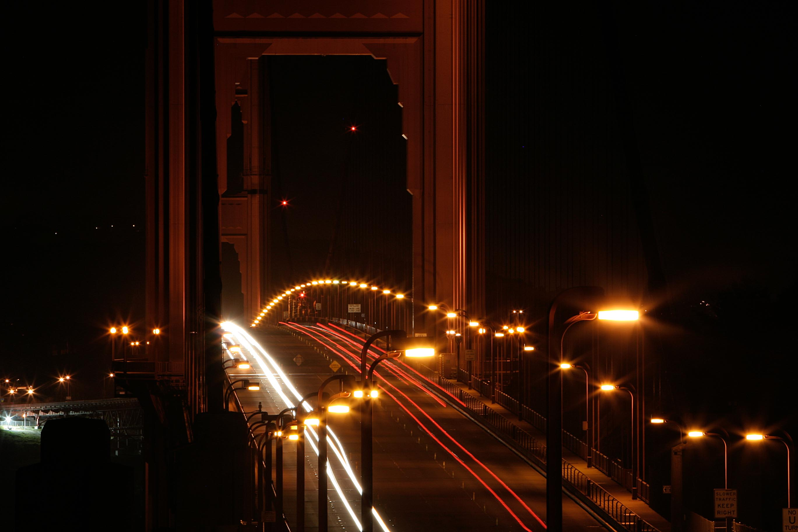 Car traffic under the Golden Gate Bridge – 2